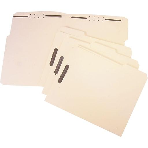 staples reinforced fastener folder 2 fasteners legal manila 50
