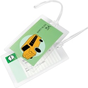 GBC® SelfSeal™ Clear Laminating Pouches, Luggage Tag Size with Loops