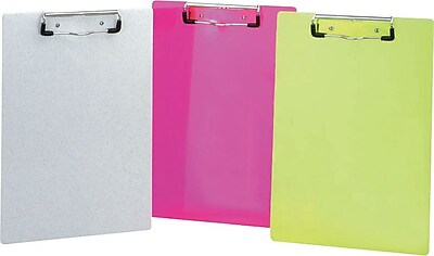 Clipboard with Low Profile Clip, Neon Yellow