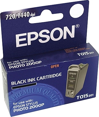 Epson Ink Cartridge, T015 (T015201), Black