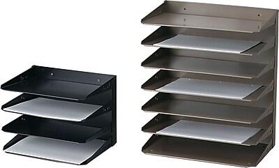 STEELMASTER® Letter-Size Horizontal Organizer, 3 Tiers, Black (2643004)