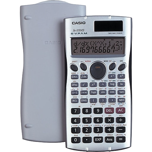 Casio® FX-115MSPlus Scientific Calculator, Silver