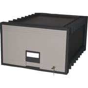 Storex Archive Storage Box, Legal Size, Black/Gray (61402U01C)