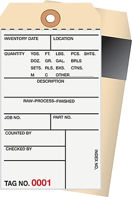 Staples® 2 Part Carbon Style Numbered Inventory Tags: 500-999, 500/Case