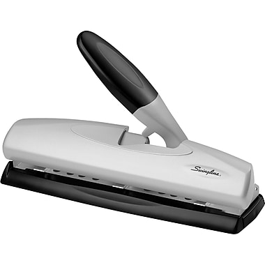 Swingline® LightTouch™ High-Capacity Desktop 2- to 3-Hole Punch, 20 Sheet Capacity
