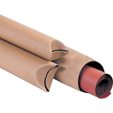 Kraft Crimped End Mailing Tubes, 1-1/2