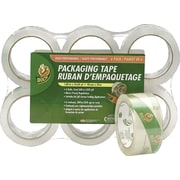 "Duck® EZ-Start Crystal Clear Packing Tape with Dispensers, 1.88"" x 60 yards, Plus ONE FREE Roll"