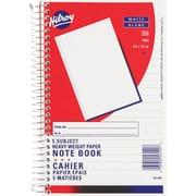 Hilroy - Cahier à 5 matières, papier épais, 9-1/2 po x 6 po, 350 pages