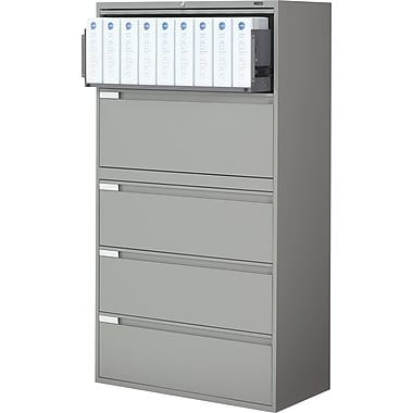 Global® 9100 Plus Series Lateral File Cabinet, 5-Drawer, Grey