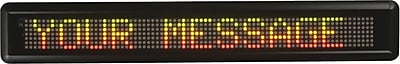NEWON® Moving-Message LED Sign, 12 Character
