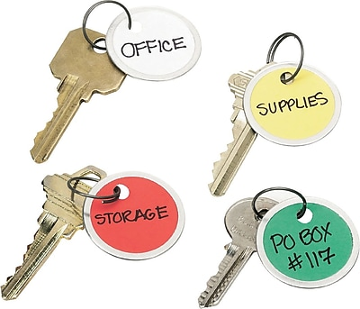 Avery® Key Tags, Split Ring, Assorted, 1-1/4