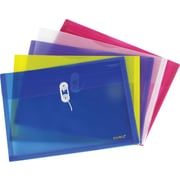 Staples Poly Envelopes with Side Opening, Legal, Assorted, 5/Pack