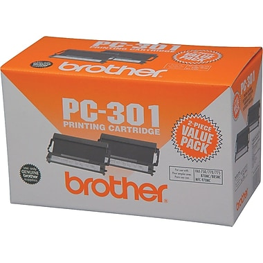 Brother PC-301 Fax Cartridge, 2/Pack