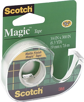 Scotch® Magic™ Tape with Refillable Dispenser, 3/4