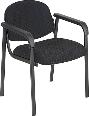 Office Star™ Guest Chair with Steel Frame, Midnight Black