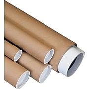 "Staples 02"" x 24"" Plug-Seal Round Mail Tubes, 50/Case (710224B)"