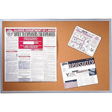 Quartet® – Tableau d'affichage, cadre en aluminium, 36 po x 24 po