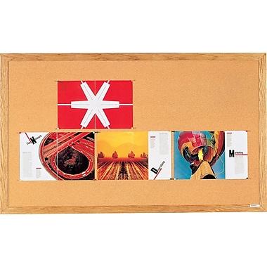 Quartet® – Tableau d'affichage, cadre en chêne, 36 po x 48 po