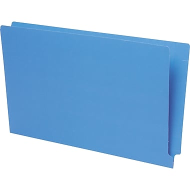 Pendaflex® Reinforced Coloured End-Tab File Folders, Legal Size, Blue