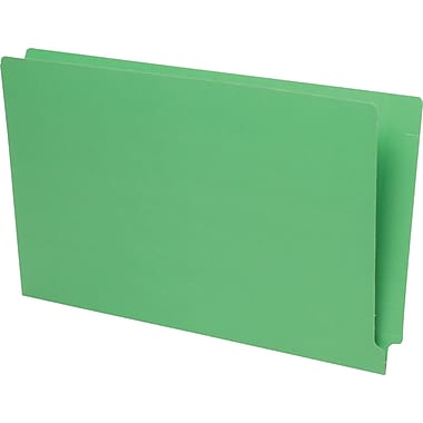 Pendaflex® Reinforced Coloured End-Tab File Folders, Legal Size, Green