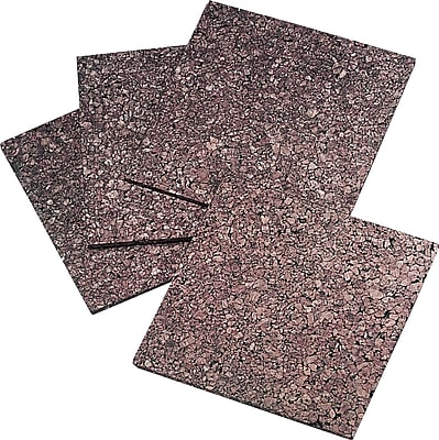 Quartet® Dark Cork Tiles, 12