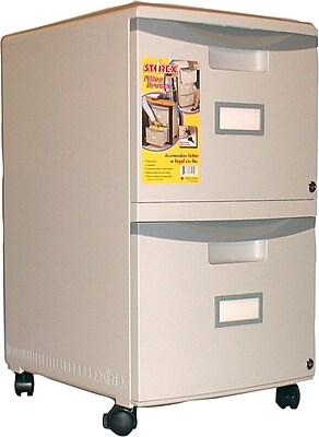 Storex 2 Drawer Mobile/Pedestal File, Gray,Letter/Legal, 14.75''W (61301B01C)