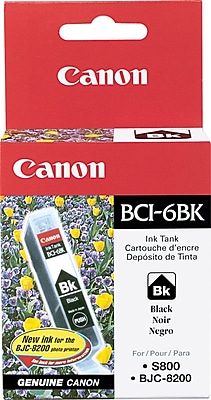 Canon BCI-6BK Black Ink Cartridge (4705A003)