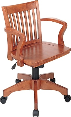 Office Star Wood Chair, Fruitwood Finish