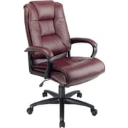 Office Star Leather Executive Office Chair, Burgundy, Fixed Arm (EX5162-4)