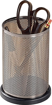 Expressions™ Punched Metal and Wood Jumbo Pencil Holder