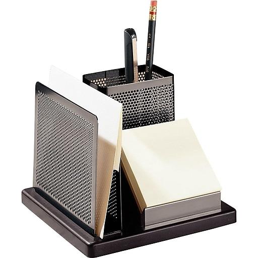 Awe Inspiring Eldon Expressions Gunmetal Black Punched Metal Wood Desk Accessories Desktop Organizer Home Interior And Landscaping Ferensignezvosmurscom