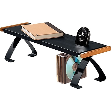 Rolodex® Distinctions™ Punched Black Metal and Cherry Wood Off-Desk Shelf