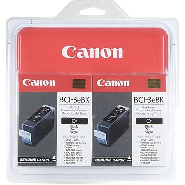 Canon BCI-3eBK Black Ink Cartridges (4479A003), 2/Pack