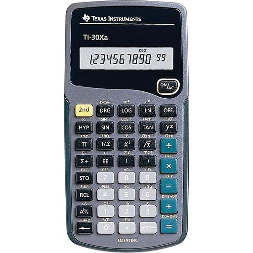 Texas Instruments Ti 30xa Scientific Calculator Staples