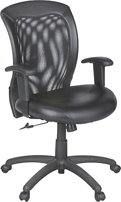 Global Airflow Leather Managers Office Chair Adjustable Arms