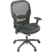 Space Seating Mid-Back Mesh Manager's Chair, Adjustable Arms, Black