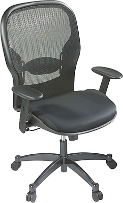 Office Star Seating Mesh Managers Office Chair, Black, Adjustable Arm (2300)