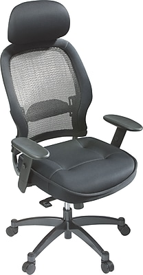Beau Office Star® SPACE® Seating Executive High Back Chair With Mesh Seat, Black