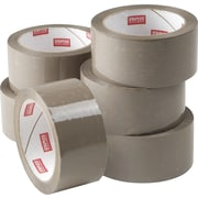 "Staples® Natural Rubber Packing Tape, 1.89"" x 54.7yds, Tan, 6/Pack (11649-CC)"