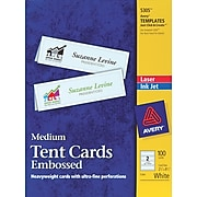 Avery® Laser & Inkjet Embossed Tent Cards