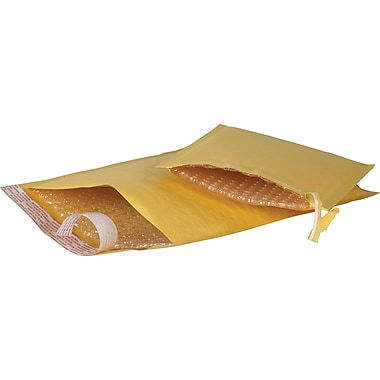 Self-Seal #0 Bubble Mailers, Easy-Open Tear-Tab, Kraft, 5-7/8