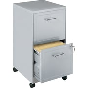 Office Designs 2 Drawer Vertical File, Silver,Letter, 14.25''W (15478)