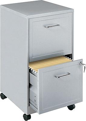 Office Designs 2 Drawer Vertical File Cabinet, Silver, Letter, 18''D (15478)