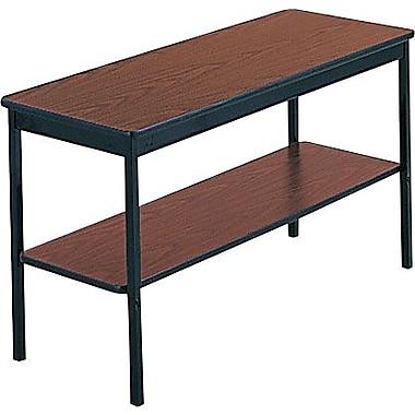 Barricks 4' Laminate Utility Table with Bottom Storage Shelf