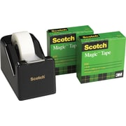Scotch® Magic™ Tape with C-28 Dispenser, Black, 2/Rolls (810K2-C28)