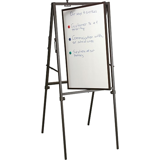 Best-Rite Spinner Dry Erase Whiteboard Presentation Easel, Black Frame, 40  1/2
