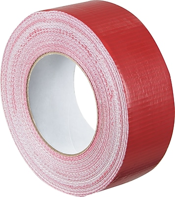 Staples® Colored Duct Tape, Red, 2