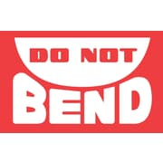 "Labels, ""Do Not Bend"", 3"" x 5"", Red/White, 500/Roll"