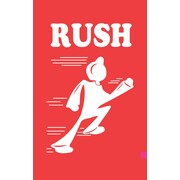 """Tape Logic® Shipping Label, Rush, 4"""" x 6"""", Red/White, 500/Roll"""