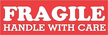 Fragile Handle With Care 1 1/2 X 4
